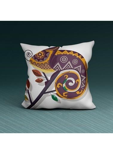 Artikel Geometrik Desenli Dekoratif Çift Taraflı Yastık Kırlent Kılıfı 45x45 cm Renkli